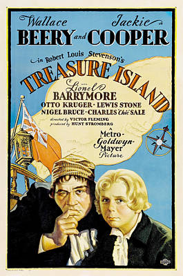 Film Painting - Film Poster For The 1934 Film Treasure Island by Celestial Images