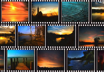 Sunset Strip Wall Art - Photograph - Film Strips by Georgiana Romanovna