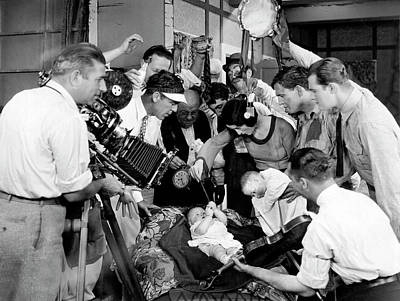 Vintage Conway Photograph - Filming The Baby by Underwood Archives