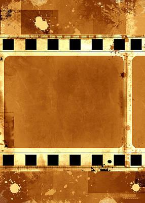 Framed Art Digital Art - Filmstrip Abstract Coposition by Modern Art Prints