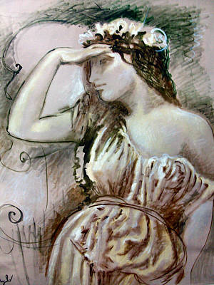 Portrate Painting - Filomena by Angelo Antonnicola