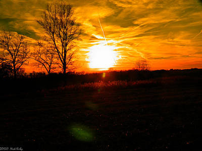 Photograph - Filtered Jetplane Sunset by Nick Kirby