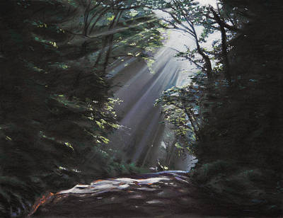 Sun Rays Painting - Filtered Light by Christopher Reid