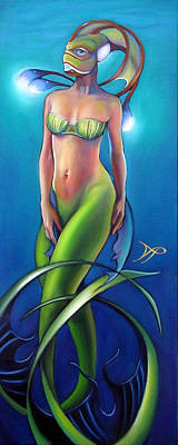 Sea Siren Painting - Fin Angelica by Patrick Anthony Pierson