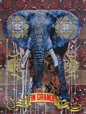 Graffitti Painting - Fin Grande by Gary Kroman