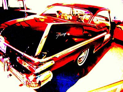 Art Print featuring the photograph Fin Of Fury In A Plymouth Fashion by Don Struke