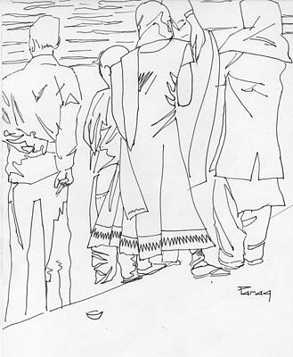 Drawing - Final Adieu by Parag Pendharkar