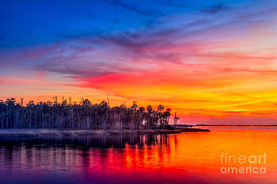 Gulf Coast Wall Art - Photograph - Final Glow by Marvin Spates