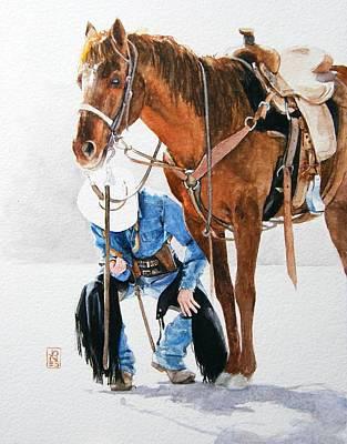 Chaps Painting - Final Inspection by Debra Jones