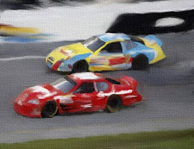 Mixed Media - Final Laps by Dennis Buckman