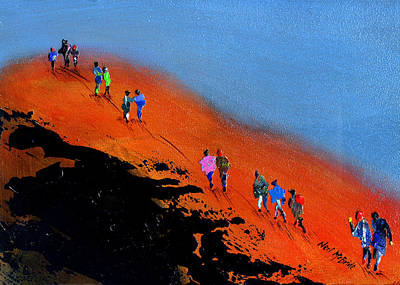 Crowds Painting - Final Push For The Summit by Neil McBride