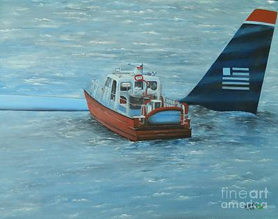 Passenger Plane Painting - Final Rescue by Kenneth Harris