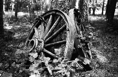 Wagon Wheels Photograph - Final Rest by Aaron Aldrich