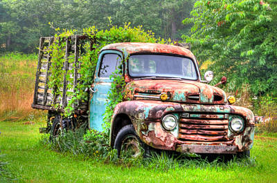 Final Resting Place - Ford Truck Art Print by Bill Cannon