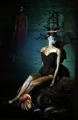 England Photograph - Final Touches Made To Isabella Blow by Peter Macdiarmid