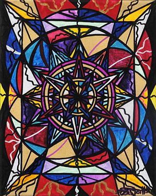 Sacred Geometry Painting - Financial Freedom by Teal Eye  Print Store