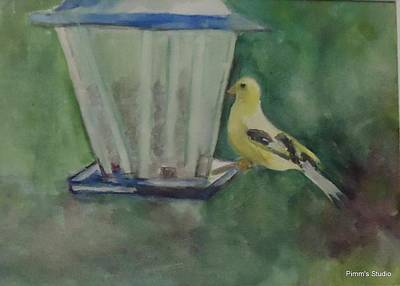 Painting - Finch by Betty Pimm
