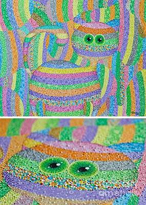 Graphics Painting - Find A Cat by Grass Hopper