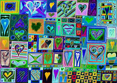 find U'r love found v7 Art Print by Kenneth James