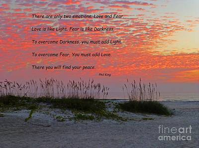 Seashore Quote Wall Art - Photograph - Find Your Peace by Phil King