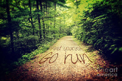 Find Yourself Go Run Art Print