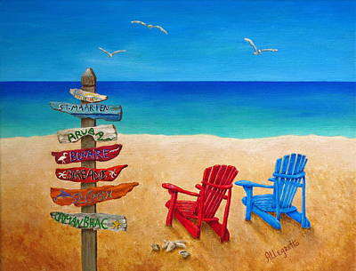 Barbados Painting - Finding Paradise by Pamela Allegretto