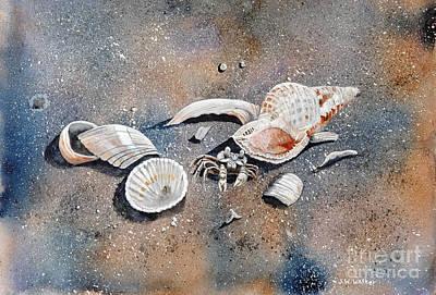Water Media Painting - Finders Keepers by John W Walker