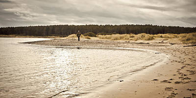 Seagrass Photograph - Findhorn Beach by Tom Gowanlock