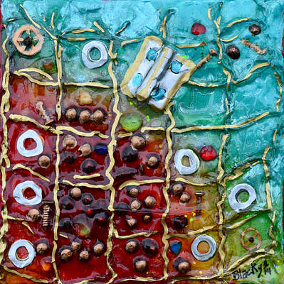 Artist Mixed Media - Finding A Way Out by Donna Blackhall