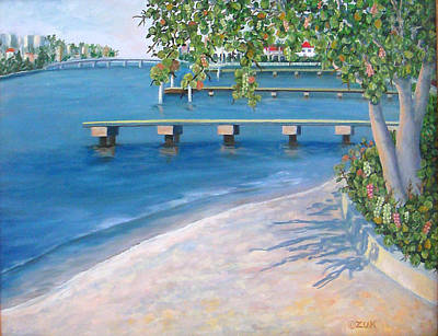 Art Print featuring the painting Finding Flagler by Karen Zuk Rosenblatt