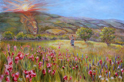 Lion Of Judah Painting - Finding Jesus #3 by Susan Jenkins