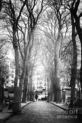 Cemeteries Of Paris Photograph - Finding Light by John Rizzuto