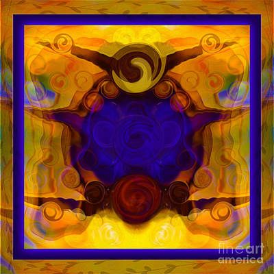 Digital Art - Finding My Happy Place Abstract Healing Art by Omaste Witkowski