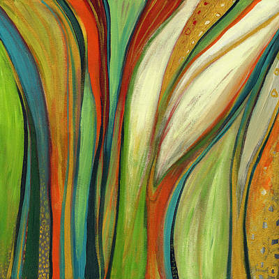 Abstract Oil Paintings Color Pattern And Texture - Finding Paradise by Jennifer Lommers