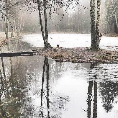 Reflection Wall Art - Photograph - Finding Peace In The Rain by Aldona Pivoriene