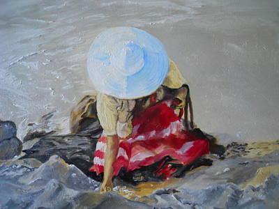 Painting - Finding Seashells by Joyce Reid