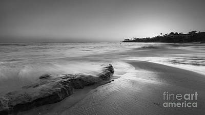 Finding Serenity Bw Art Print by Michael Ver Sprill