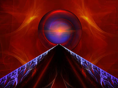 Meditative Digital Art - Finding Solace by Elizabeth S Zulauf