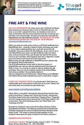 Painting - Fine Art And Fine Wine by Karen Zuk Rosenblatt