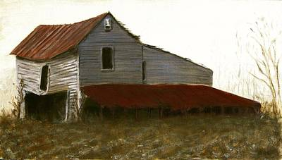 Art Print featuring the painting Fine Art Oil Painting North Carolina Barn by G Linsenmayer