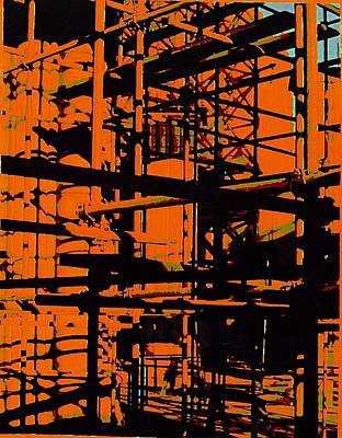 Painting - Fine Art Original Digital Pipes Orange Maryland by G Linsenmayer