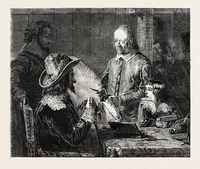 Circulation Drawing - Fine Arts, Harvey Demonstrating To Charles by Hannah, Robert (1812-1909), English