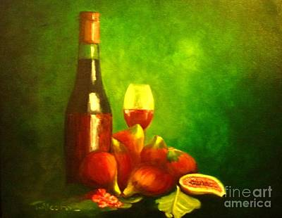 Fine Wine And Figs Original by Therese Alcorn