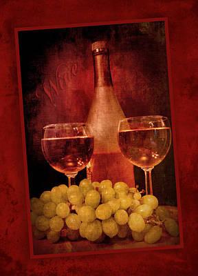 Fine Wine Art Print by Cindy Haggerty