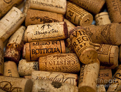 Photograph - Fine Wine Corks by David Millenheft