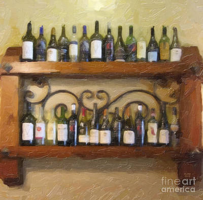Painting - Fine Wine by David Millenheft