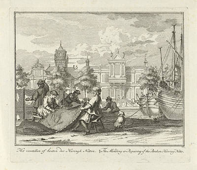 Adolf Drawing - Fines Of Fishing Nets, Adolf Van Der Laan by Quint Lox