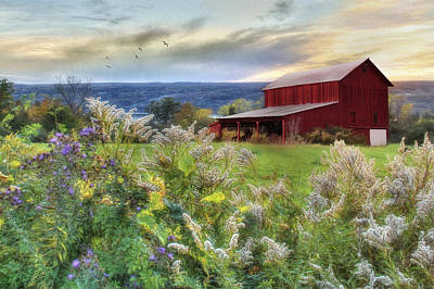 Barn Digital Art - Finger Lakes Farm by Lori Deiter