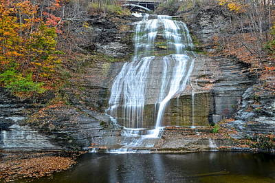 Finger Lakes Water Cascade Art Print by Frozen in Time Fine Art Photography