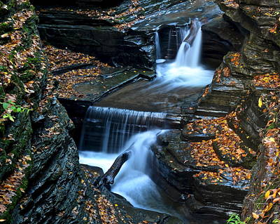 Finger Lakes Photograph - Finger Lakes Waterfalls by Frozen in Time Fine Art Photography